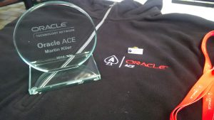 My Oracle ACE program shipment just arrived today.